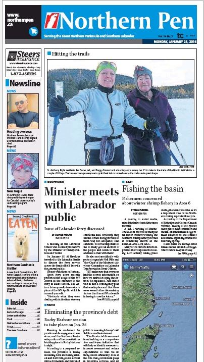 Northern Pen_thriller_25 Jan 2016 front page
