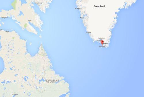 Nanortalik Greenland_in context Google maps